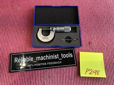 Excellent Fowler 0-25mm Outside Micrometer .001 Grad P298