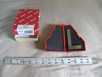 1 New Starrett 3020-3 Precision Stainless 3 Steel Square With Case