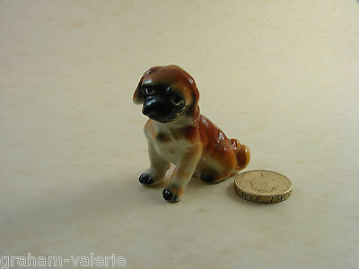 "Miniature Ceramic Spaniel Dog Puppy Ornament Figure 2"" tall"