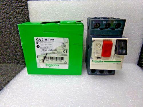 SCHNEIDER GV2ME22 Manual Motor Starter, Button, 20-25A, 1P (DC)