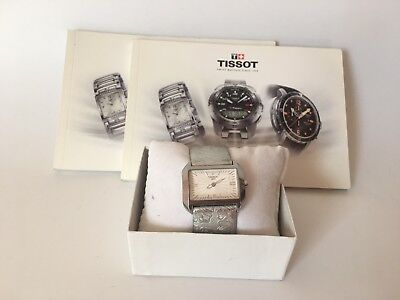 Woman Tissot Watch T-Wave White Dial Silver Leather T0233091603102