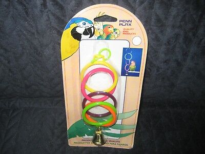 Penn plax bird toy rings with bell