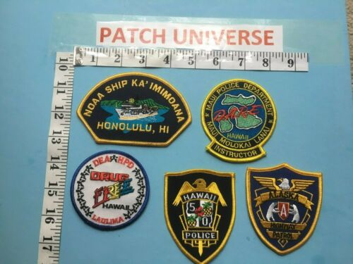 LOT OF 5 DIFFERENT HAWAII  SHOULDER PATCHES   F028