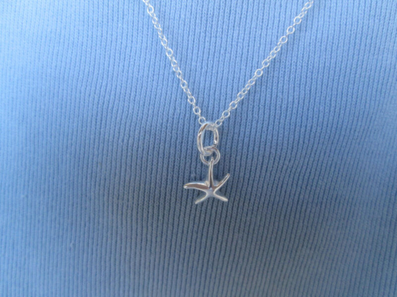 Sterling Silver Small Starfish Sea Star Necklace