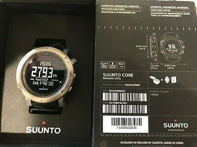 SUUNTO Core Brush Steel Watch Altimeter Barometer Compass SS020339000