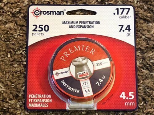 Crosman, 250 Pellets, .177 Caliber, Destroyer, Maximum Penetration & Expansion