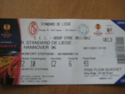 Ticket: Standard - Hanovre (Hannover) UEFA EL(30-11-11)