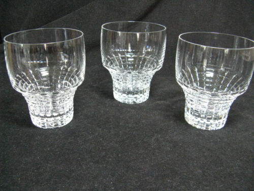 3 Rosenthal Crystal Polaris Old Fashioned Glasses  RARE HTF