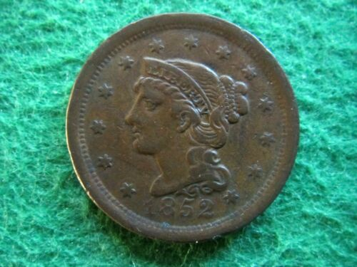 1952 Braided Hair Large Cent - Nice Very Fine