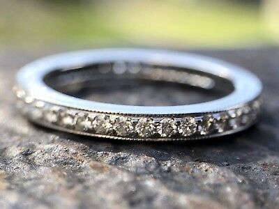 TIFFANY Diamond/Platinum Eternity Ring From The Legacy Collection / $3675 (Tiffany And Co Infinity Collection)