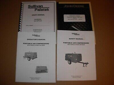 Sullivan Palatek D210phjd Air Compressor Owners Operators Engine Manuals
