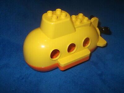 Lego Duplo Ville 1 X U-Boot Boot Gelb Schiff macht Blasen Schwimmt...