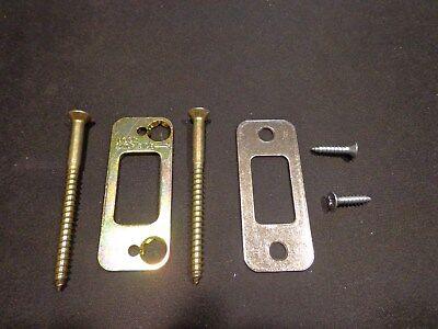 Schlage Deadbolt Strike Reinforcer 3 Screws Nickel Plate 1 18 X 2 34