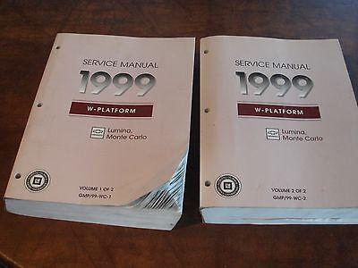 1999 CHEVROLET LUMINA & MONTE CARLO FACTORY REPAIR SERVICE 2 MANUAL SET