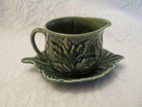 Vintage SylvaC Sylvac England Green Leaf 4683 Creamer
