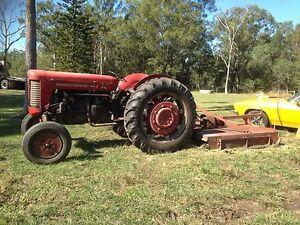 Massey Ferguson 65 Tractor inc. 1.8m Slasher + Roller + Crate Cleveland Redland Area Preview