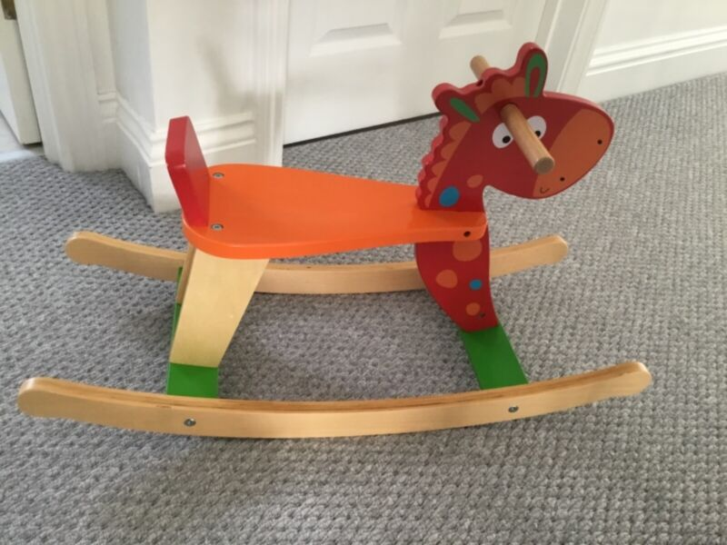 BNWOT+wooden+rocking+chair%2Fhorse