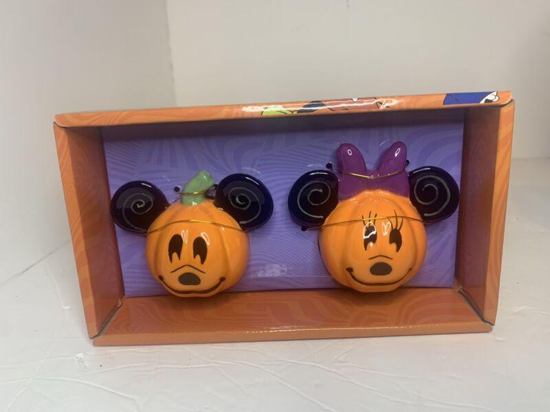 Disney Mickey & Minnie Halloween Pumpkin Salt & Pepper Shakers - Fast Shipping