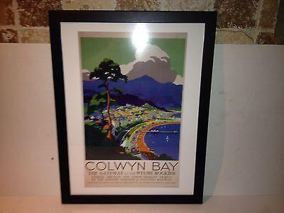 Art Deco Framed LMS Colwyn Bay Travel Poster