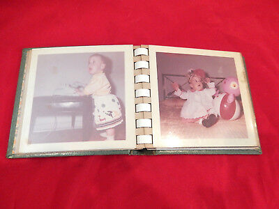 Vintage Mini Photo album from 1961 filled with baby and kids pics - Baby Mini Photo Album