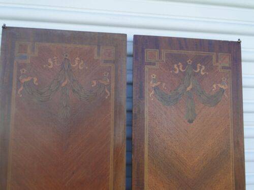 Great Pair of French Antique Inlaid Hanging Panels Door
