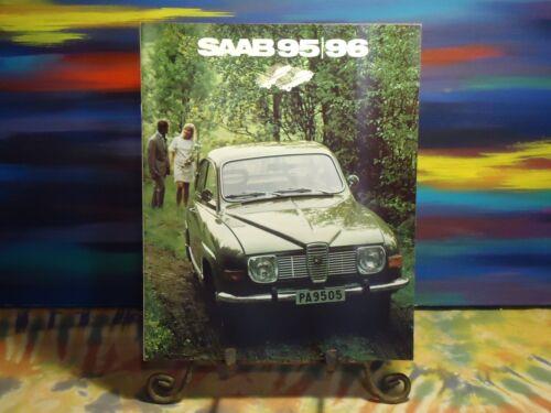 Vintage - Saab 95/96 - Promotional Booklet Brochure - 1972