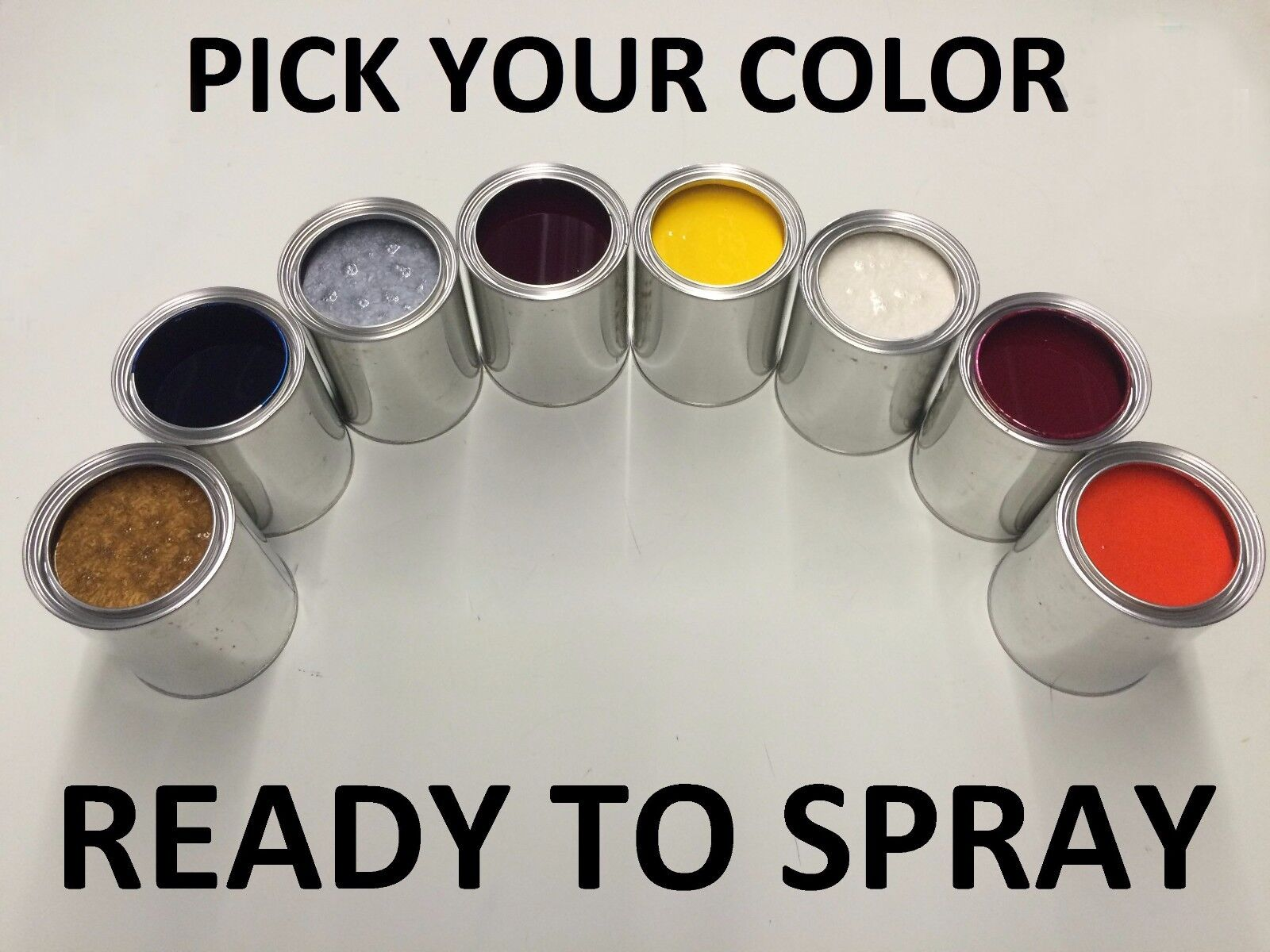 PICK YOUR COLOR - 1 PINT CLEAR + 1 PINT PAINT Ready to Spray for KIA CAR / SUV