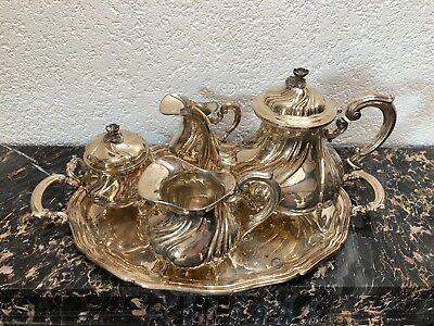 SILBER 800 SET KAFFEE-MILCH-KANNE UND ZUCKER-DOSE ITALIEN VERCELLI 2856g 19-TES