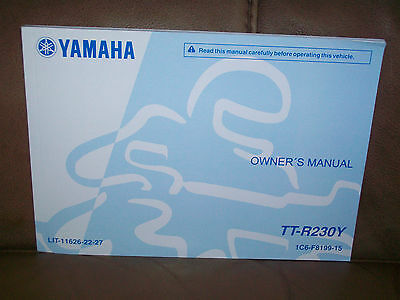 2009 Yamaha TTR230Y motorcycle owners manual