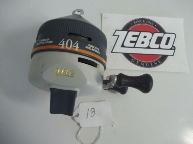 LOT# 18  VINTAGE ZEBCO 404  MADE IN USA   VERY NICE
