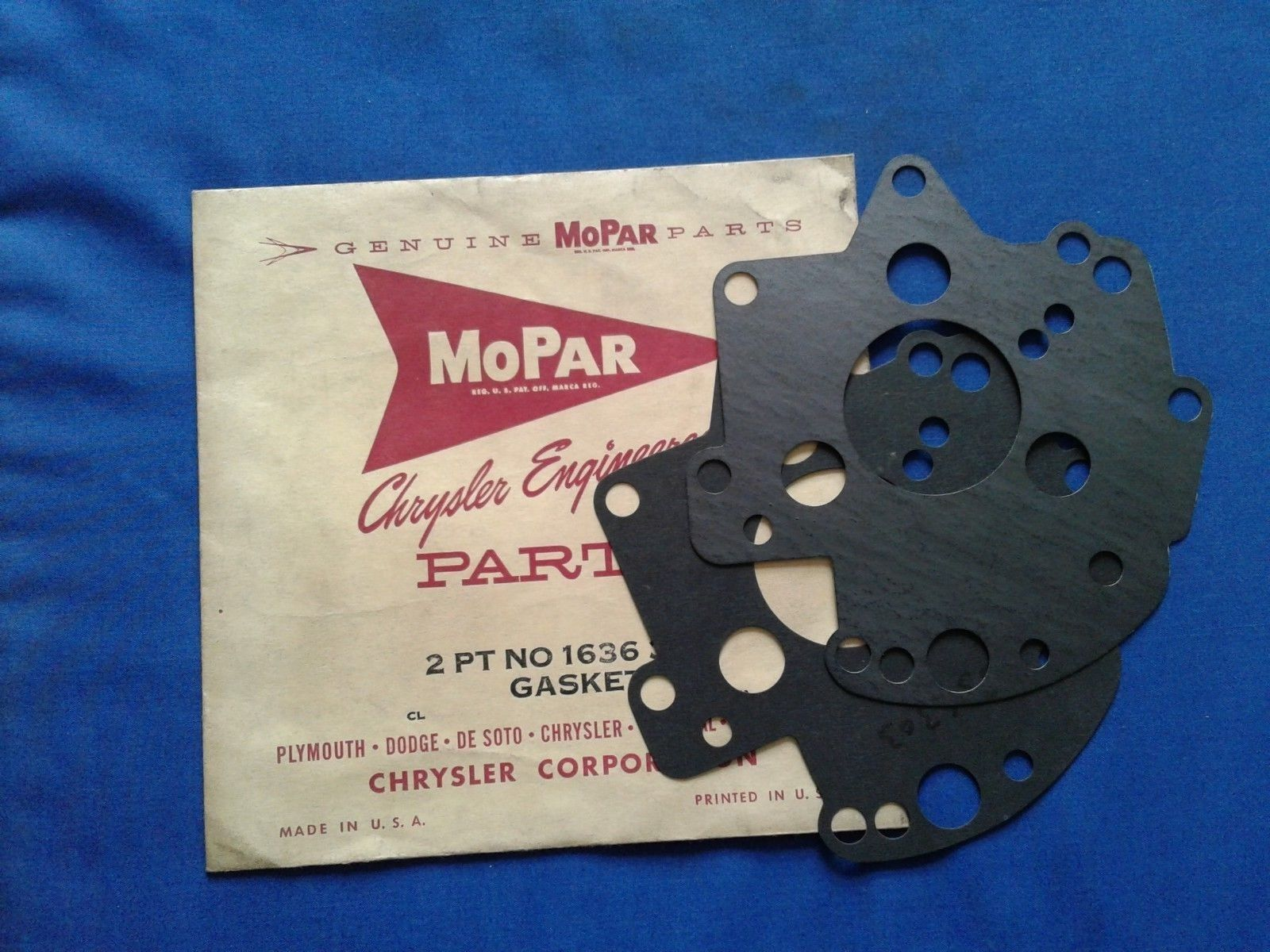 NOS Mopar Valve Body Automatic Transmission Gasket # 1636303, Set of 2