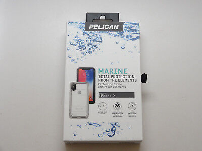 New iPhone X Pelican Marine IP68 Waterproof Clear Case