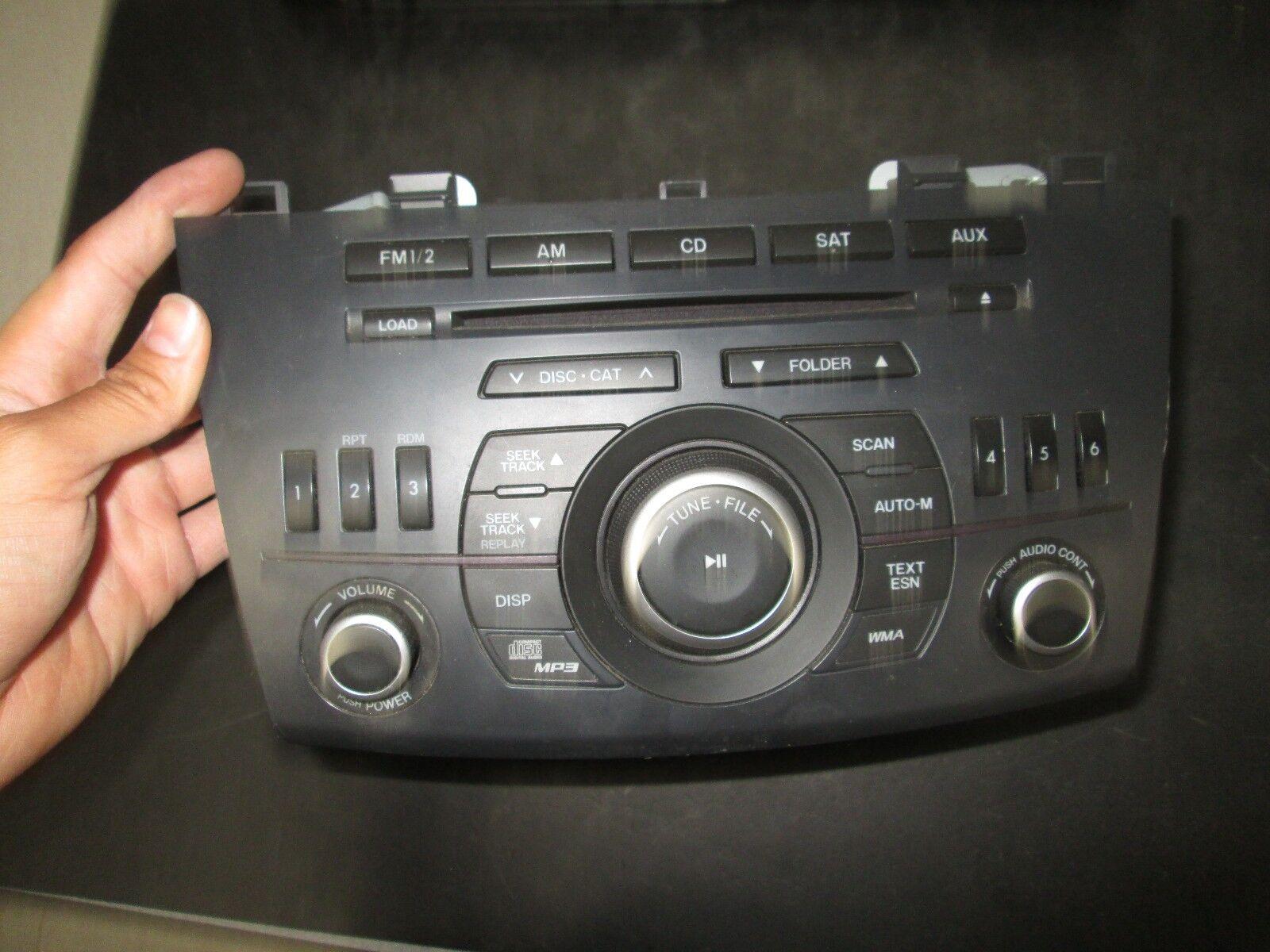 11 12 13 MAZDA 3 RADIO CD PLAYER OEM #14792746,BBM5-66-AR0