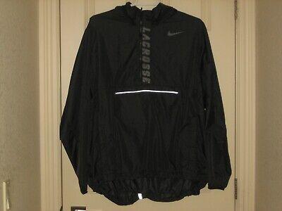 ~NIKE~Men's Black Lacrosse Lightweight Packable Windbreaker~ Sz XXL~