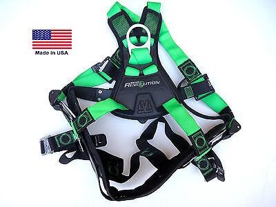 New Miller Revolution Safety Harness Model Rpy-qc-bdpsmgn Removable Belt.