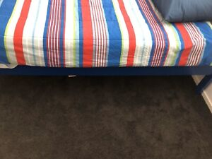 Boys single timber bed with mattress