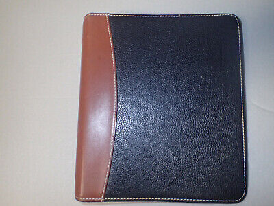 Franklin Quest Blacktan Leather 7-ring Day Plannerorganizer 3080.05f5 9.5x8