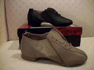 Capezio Jazz Shoe Mens Isotope Dance Black Tan PP02 - Mens Jazz Shoe