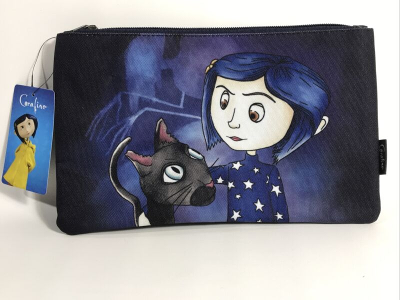 New Loungefly Coraline Stars Makeup Cosmetic Bag