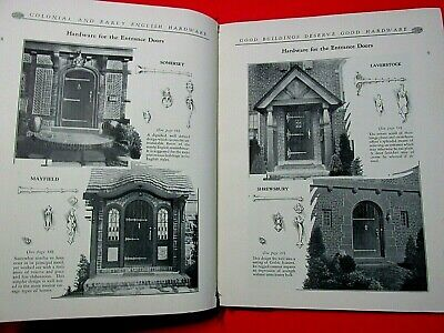 1931 ADVERTISING BOOK HARDWARE COLONIAL EARLY ENGLISH HARD COVER CATALOG RARE