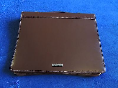 Day-runner Classic Desk 1.5 Rings Folder Planner Binder Handle 13x10 Brown