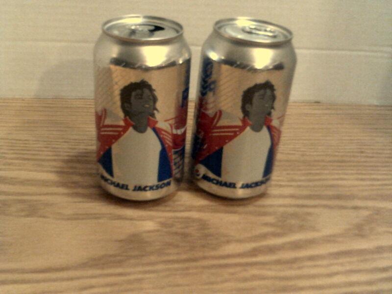 (2) Michael Jackson Diet Pepsi Cans