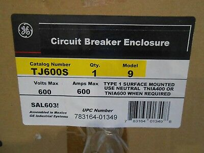 Ge Tj600s Circuit Breaker Enclosure 600vac 600amp - New In Box