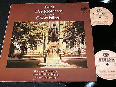 J.S. BACH Motetten BWV 225-230.../ DDR DLP 1989 ETERNA DMM 729256-257