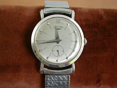 Vintage 14K WHITE GOLD Hamilton Bradford B Wristwatch- Working  ......L 2928