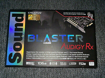 Creative Sound Blaster Audigy RX SB1550 7.1 Sound Card - Barely Used