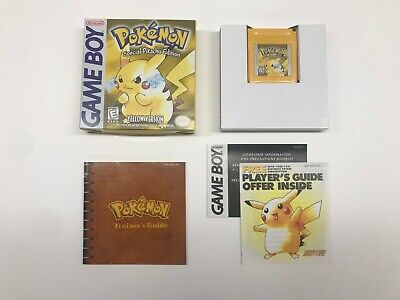 *MINT* Pokemon Yellow Version (Nintendo Gameboy) Authentic CIB Complete In Box!!
