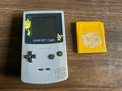Gameboy Color Pokemon Pikachu Edition Nintendo System Gold GBC w/ Yellow game