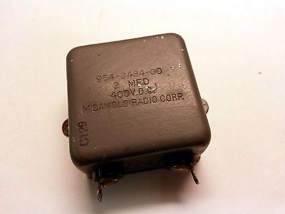 Micamold Bathtub Capacitor 2uf 400v Dc Pio Pulls Lot Of 1
