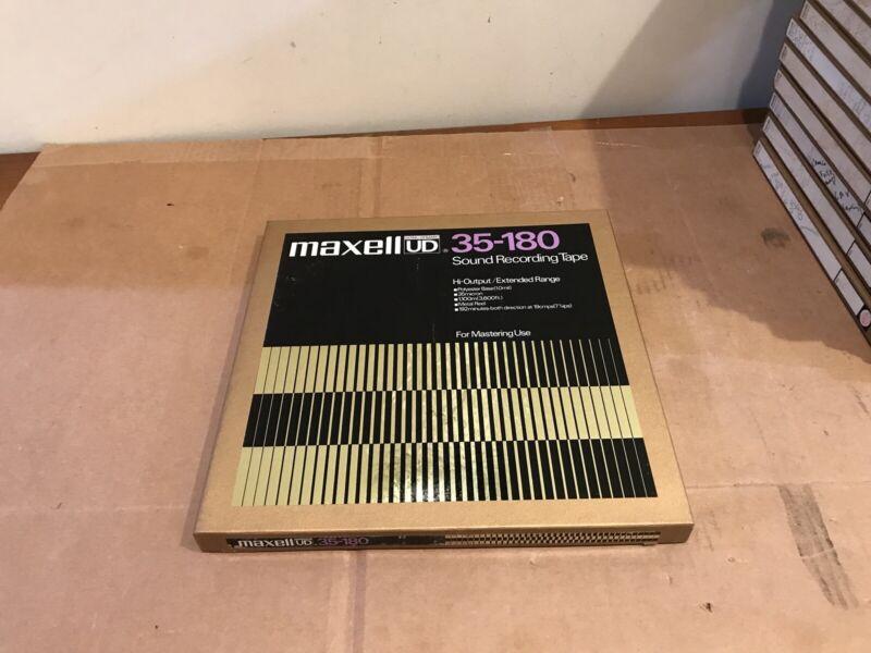 """Vintage Maxell UD 35-180 10.5"""" Metal Reel  1/4"""" 3600"""